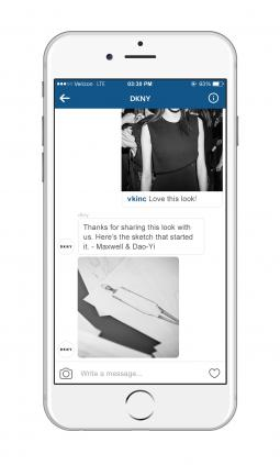 Another shot of DKNY Instagram Direct campaign