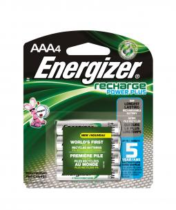 Energizer Recharge batteries are made in part from recycled hybrid car batteries.