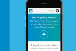 LinkedIn Elevate on a mobile app.
