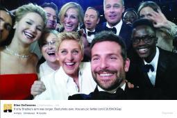 Ellen's selfie at the Oscars.