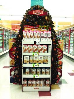 A Pepperidge Farm endcap display in a grocery store.
