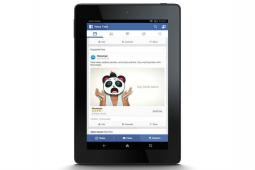 Facebook app on the Fire tablet