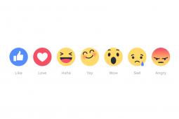 Facebook 'Reactions' buttons
