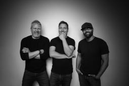 (l-r) Chris Knight, Phil Crowe, Robert Sethi