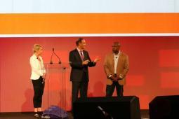 (from l.) Kristi Lundgren; moderator Steve Liguori; Russell Stokes