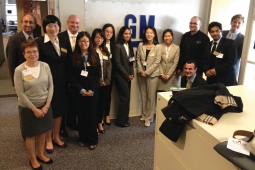 IBM and GM staff members with the MSU team who worked on the SMART project.