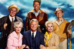 The cast of the American TV comedy series 'Green Acres', circa 1968.