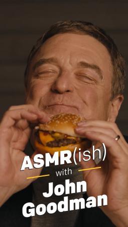 John Goodman in McDonald's fresh beef campaign.