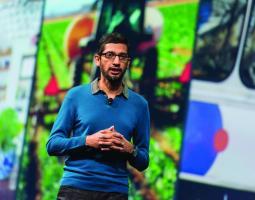 Google CEO Sundar Pichai at its 2015 I/O Conference