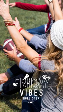 The retailer's sample Snap shows teens playing football with the sponsored geotag overlayed.