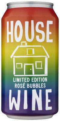 House Wine Rainbow Rosé Bubbles cans
