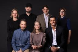 Back from Left: Gela Fridman, Derek Fridman, Michael Horn, Holly Mason Front from Left: Jason Musante, Alexandra Lutz, Thomas Prommer