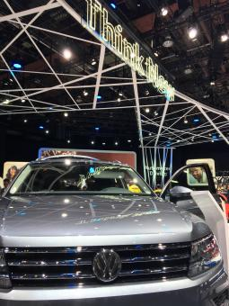 VW display at Detroit auto show