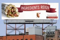 Chipotle Ingredients Reign billboard – pinto bean