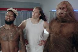 The stars of the 'Workin' Out With Sasquatch' campaign.