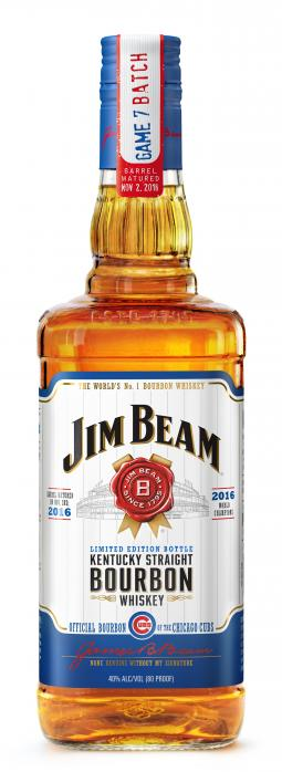 The new Cubs-branded 'Game 7 Batch' Jim Beam