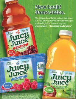 Juicy Juice's new campaign.