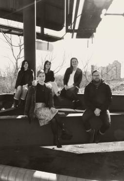 Back row: Maria José Arias, Nicole Nyholt, Rachel Harding Front row: Jes Watson, Duncan Collis