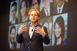 Bloomberg Media CEO Justin Smith at presenting at the NewFronts.