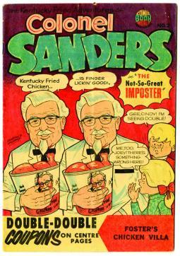 1960s Colonel Sanders Comic Book