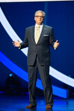 Keith Turner, president of advertising sales and marketing, during Univision's presentation.