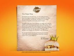 Krystal letter to Burger King