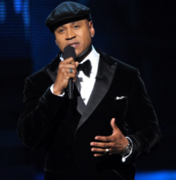 Host LL Cool J said a prayer for Whitney Houston at the beginning of Sunday's Grammy Awards.
