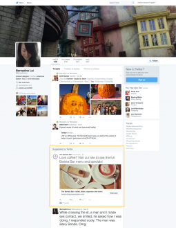 Twitter will show ads to logged-out desktop visitors looking at someone's profile page.