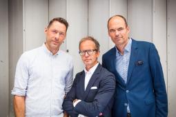 (From l.) Ben Hampshire, Charlie Crompton, David Van Der Gaag