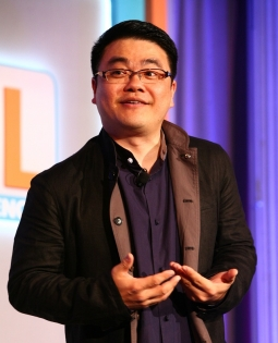 S Y Lau delivers a presentation at the Ad Age Digital Conference Tuesday afternoon in New York.