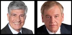 Publicis head Maurice Levy and Omnicom head John Wren