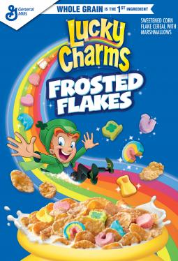 Lucky Charms Frosted Flakes are a new cereal from General Mills.