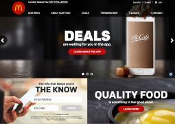 McDonald's new website