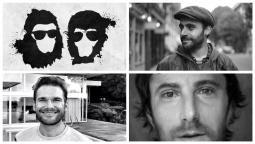 Clockwise from Upper Left: Space Monkeys, Davide Gentile, Trent Jaklitsch, Johan Stahl