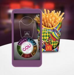 McDonald's World Cup augmented-reality app