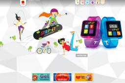 A promo for McDonald's Happy Meal Step-It activity bands