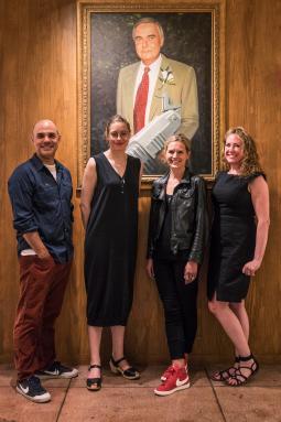 Gerry Graf, Savanah Brihn, Sara Kastner and Caroline Winterton