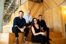 from L to R: Jeff Beberman, Barton Corley, Gustavo Sarkis, Meaghan Diamond
