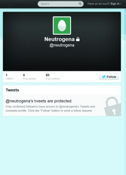 Neutrogena is among the J&J brands locked down on Twitter.