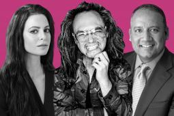 Gilrboss CEO Sophia Amoruso, Oath Digital Prophet David Shing and Harman CMO Ralph Santana.