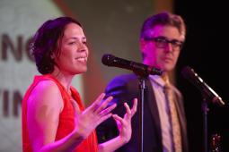 Julie Snyder and Ira Glass took the stage to discuss the power of podcasts.