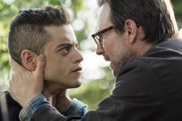 Rami Malek as Elliot Alderson and Christian Slater as Mr. Robot in USA's 'Mr. Robot.'