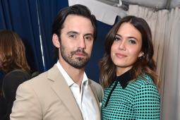'This is Us' stars Milo Ventimiglia and Mandy Moore at NBC Universal's upfront.