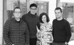Jeff Anderson, Qian Qian, Hannah Fishman and Tristan Kincaid