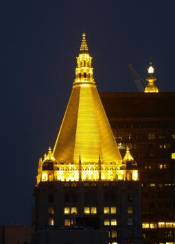 The gold top of the New York Life building in New York City