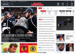 The new Sports Illustrated website.
