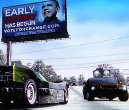 Barack Obama paid for billboards in 'Burnout Paradise' in 2008.