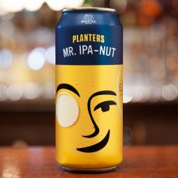 Mr. IPA-Nut is a new beer from Planters and Noon Whistle Brewing Co.