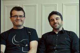 Franck Lambertz (L) and Quentin Martin