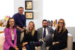 (from l. to r.) Odysseus Arms' newly expanded leadership team: Madeline Lambie, Franklin Tipton, Kelly Kruse, Eric Dunn, and Libby Brockhoff.